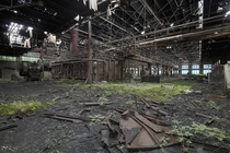 Crazily Decayed Abandoned Steel Mill in Western New York  OC