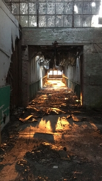 Crazy shot I got while exploring an abandoned coat hanger factory in my hometown