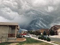 Crazy storm clouds Colorado Springs CO
