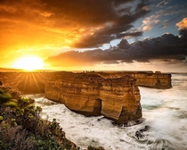 Crazy sunrise on the Great Ocean Road