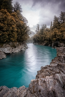 Crazy water color at Hokitika Gorge NZ