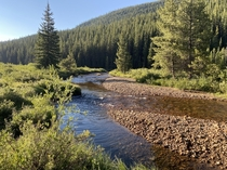 Creek at  above sea level underneath Mt Elbert Colorado  right not pictured