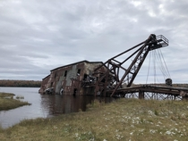 Creepy abandoned dredge near Houghton Michigan