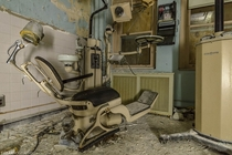Creepy-Ass Dentists Chair in an abandoned nursing home in New York State OC - x
