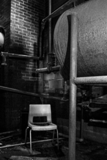 Creepy boiler room of forgotten school deep in the woods of Tennessee