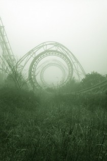 Creepy But Strangely Cool Abandoned Amusement Park   x