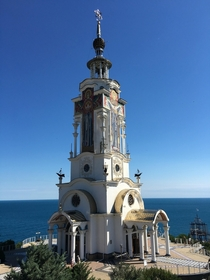 Crimea -  Sep  Church Lighthouse for sailors with ships anchors amp wind rose Memorial for sunken ships Memory amp protection of seamen amp travelers