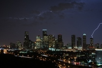 crosspost for rhouston shot of downtown houston last night