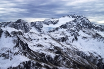 Crow Glacier and Mt Rolleston above Arthurs Pass NZ