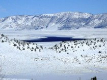 Crowley Lake CA after snow storm
