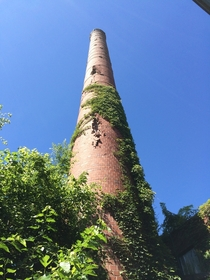 Crumbling Brick Smoke Stack Meat Packing Plant Tennessee supposedly abandoned  years ago