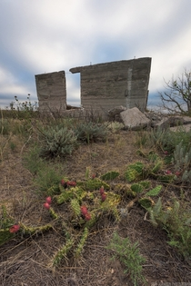 Crumbling structure on the Colorado plains