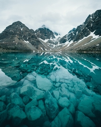 Crystal clear blue glacier lake in Norway The name of this lake is Blisvatnet which means blue ice water  Instagram swendsen