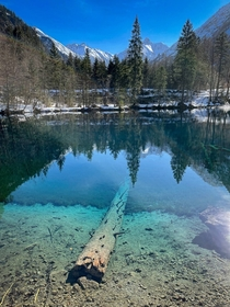 Crystal clear water in the mountains - Allgu  x - Bavaria