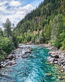 Crystal clear waters of the Bull River BC Canada