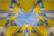 Cube houses built in Rotterdam and Helmond in the Netherlands by architect Piet Blom
