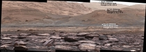 Curiosity rover captured the image of the lower portion of Mount Sharp on Mars The rounded hills in the middle distance are named the Sulfate Unit Sulfates are an energy source for some micro-organisms CreditNASA JPL-Caltech MSSS