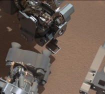 Curiosity rover spots bright object in sand at X-Y coordinate - in image possible screw from rover fell out from arm at X-Y coordinate - NASA is pausing Curiosity to gather more data
