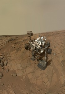 Curiosity Rovers Self Portrait at John Klein Drilling Site - Full Resolution