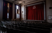 Curtain Call - an abandoned elementary school auditorium