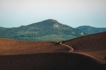 Curves and colors on the Cindercone at Lassen National Park