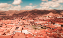 Cusco Peru from the San Cristobal Church