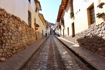 Cusco Peru once the capital of the Inca Empire Most of the streets are this awesome