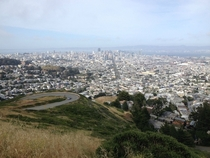 Cusp of Twin Peaks POV of San Francisco