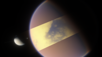 Cut away the cloud cover of Titan and youd see the oceans underneath
