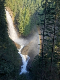 Cute little rainbow at Wallace Falls State Park WA  x