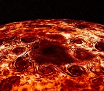 Cyclones On The Northern Pole Of Jupiter Look Just Like A Pepperoni Pizza