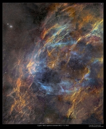 Cygnus Shell Supernova Remnant W Credit amp Copyright J-P Metsavainio Astro Anarchy