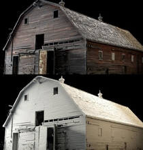 D scanned an old barn using a drone