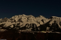 Dachstein at night by my father