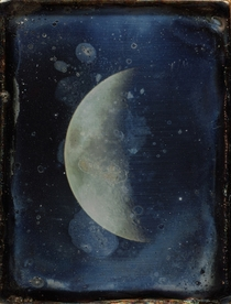 Daguerreotype of View of the Moon  by John Adams Whipple