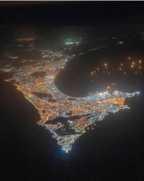 Dakar Senegal Western most point of mainland Africa from  feet Sent to me by a friend who is an airline pilot