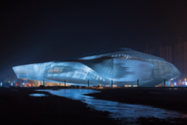 Dalian international conference center in China by Austrian firm Coop Himmelblau