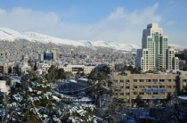 Damascus Syria after a rare snowfall