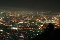 Damascus Syria at night before the war broke out