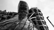 Dancing House in Prague  by deconstructivist architect Frank Gehry
