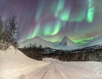 Dancing on Mountains sly Troms Fylke Norway By Richard Davy
