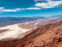 Dantes view Death Valley CA It was only  degrees that day