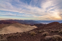 Dantes View near sunset at Death Valley California