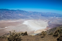 Dantes View of Badwater Basin Death Valley CA