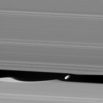 Daphnis Up Close The wavemaker moon Daphnis is featured in this view taken as NASAs Cassini spacecraft made one of its ring-grazing passes over the outer edges of Saturns rings on Jan   This is the closest view of the small moon obtained yet