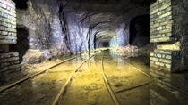 Dark abandoned mine somewhere under Europe