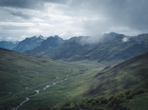 Dark and Cloudy Views in the Peruvian Andes Or middle earth you decide x OC