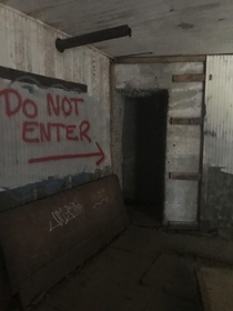 Dark tunnel located at an old navy fort in New Hampshire