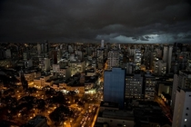 Dark weather yesterday in Curitiba Brazil