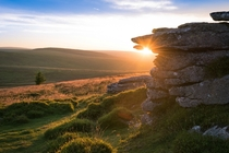 Dartmoor UK during tonights sunset